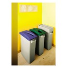 Poubelle tri slectif, 60 litres, gris