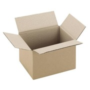 Carton Caisse américaine kraft brun simple cannelure L 16 x l 12 x H 11 cm