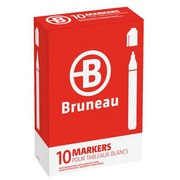 Bruneau, set of 10 dry erasable markers, plastic, assorted colours