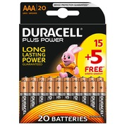 Blisterpackung von 15 Batterien + 5 gratis LR03 Duracell Plus Power