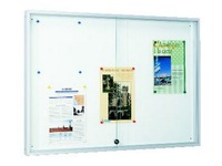 Information board with sliding doors for 8 sheets A4 lacquered