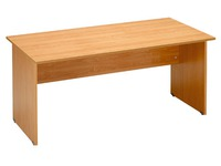 Straight desk Start Plus W 140 x D 80 cm plate alder base full alder