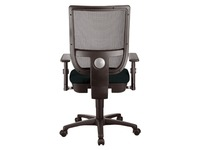 Chair Nao with mesh back and fabric seat