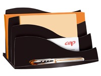 Letter holder Cep Ellypse Greenspirit 3 compartments black