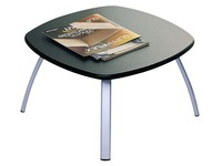 Table basse Aloha plateau anthracite, piétement alu