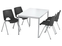 Pack Klass 1 rectangular table + 4 chairs