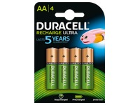 Pile rechargeable AA - HR6 Duracell Stay charged - Blister de 4 accus