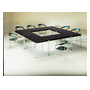 Rectangular table Comfort chromed undercarriage 140 x 70 cm