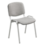 Stackable meeting chair with undercarriage in aluminium