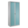 Union, dismountable tambour cabinet, H 195 cm, grey body