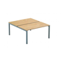 Arko, set of 2 straight desks, 120 cm, beech