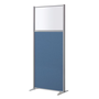 Acoustic partition B-Zen half glass H 180 x W 81 cm